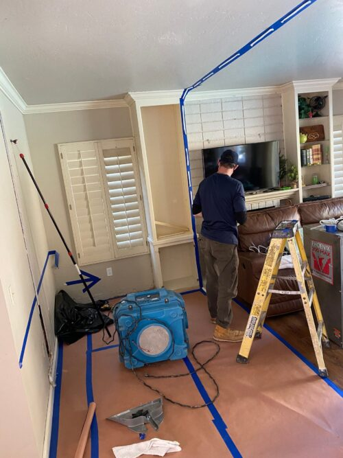 water damage removal process in Houston Texas